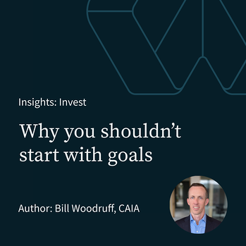 Why You Shouldn't Start with Goals
