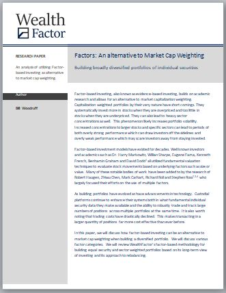 Factor-Based an alternative to Market Cap Weights